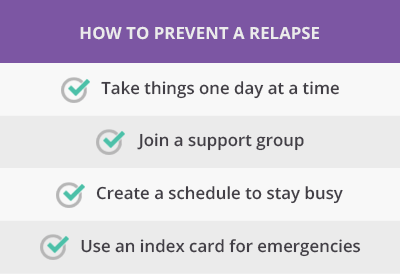 4 ways to prevent a relapse