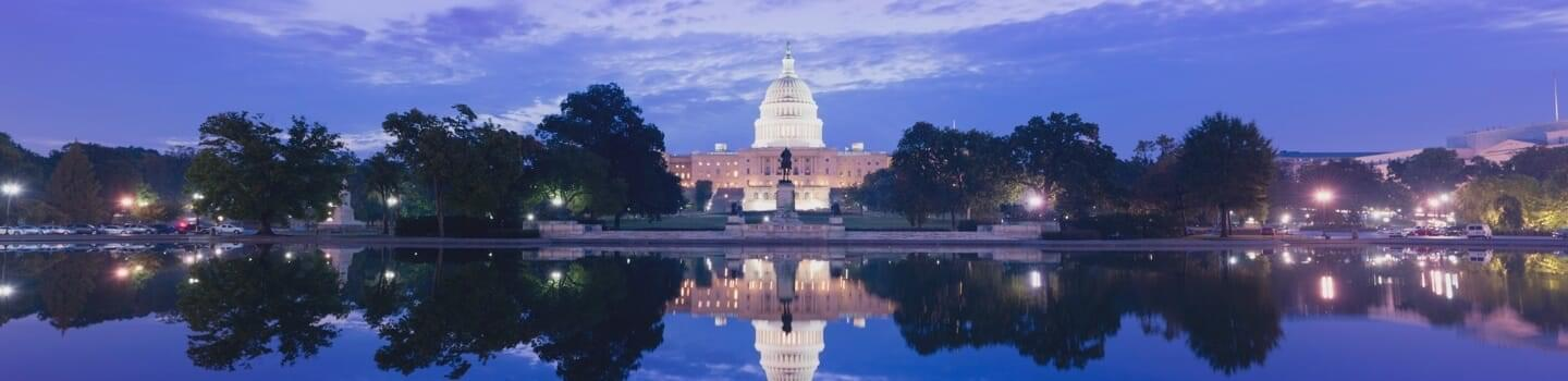 View of the Capital Building in Washington D.C.