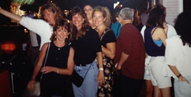 Susan and her friends out on the town