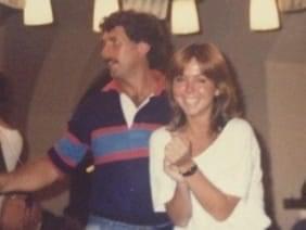 Susan in Munich, Germany, in 1985.