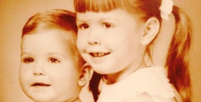 Susan Broderick and her younger brother as children.