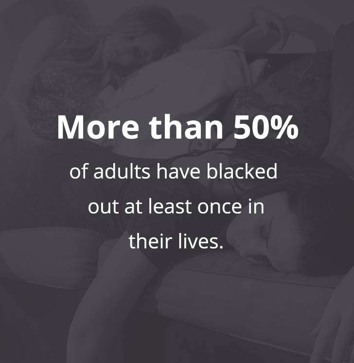 More than 50% of adults have blacked out at least once in their lives