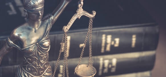 legal books and law scales of Justice