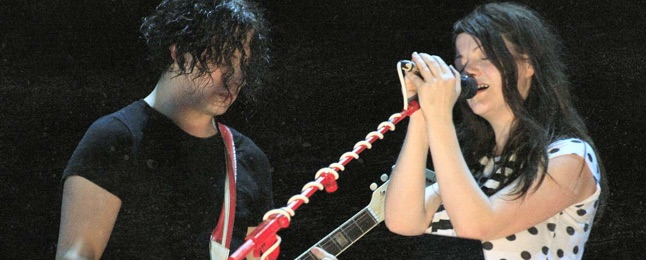 The White Stripes performing at the 2007 O2 Wireless festival in London