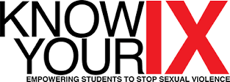 Know Your IX Empower Students to Stop Sexual Violence Logo