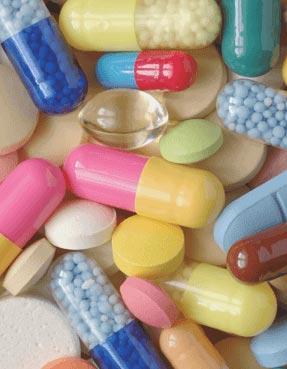Assortment of pills.