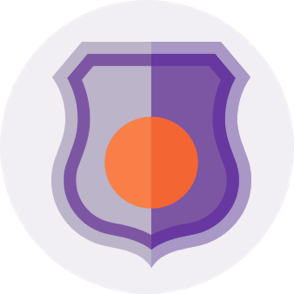 Purple police badge icon