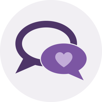 discussing feelings icon