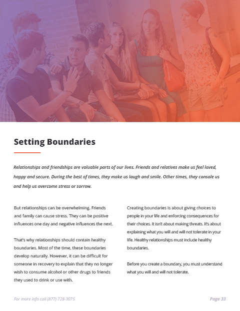 Sobriety e-Book Page 33 - Setting Boundaries