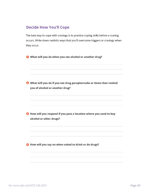 Sobriety e-Book Page 59 - Decide How You'll Cope