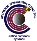 Colorado Springs Teen Court Logo. Just for Teens By Teens.