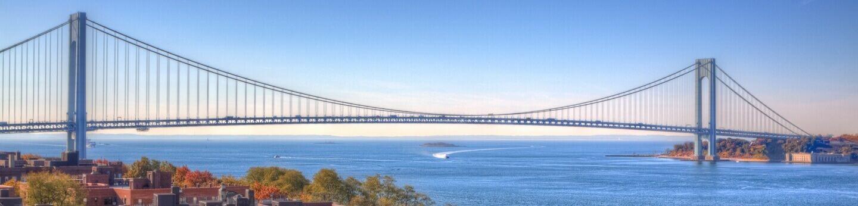 Staten Island Bridge on a clear sunny day