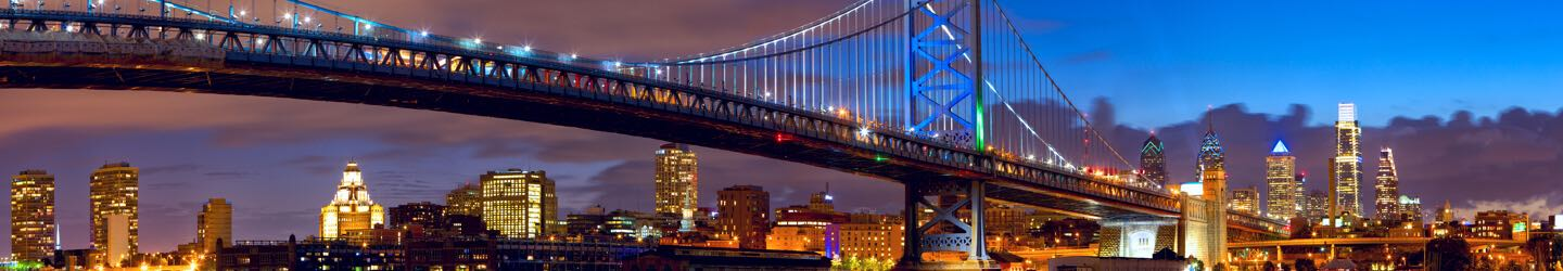 The Benjamin Franklin Bridge in Philadelphia