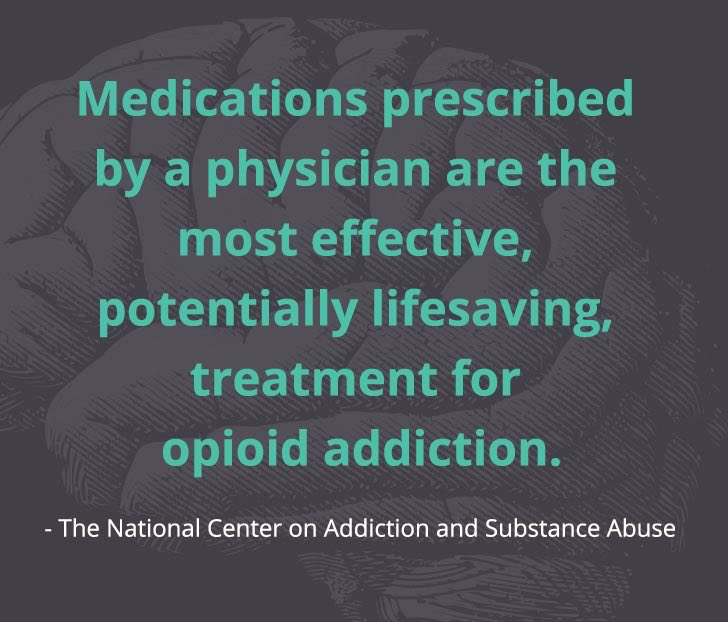 Medications prescribed by a physician are the most effective treatment for opioid addiction - quote