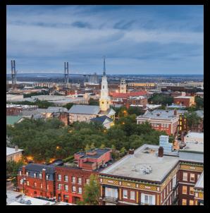 Savannah downtown skyline