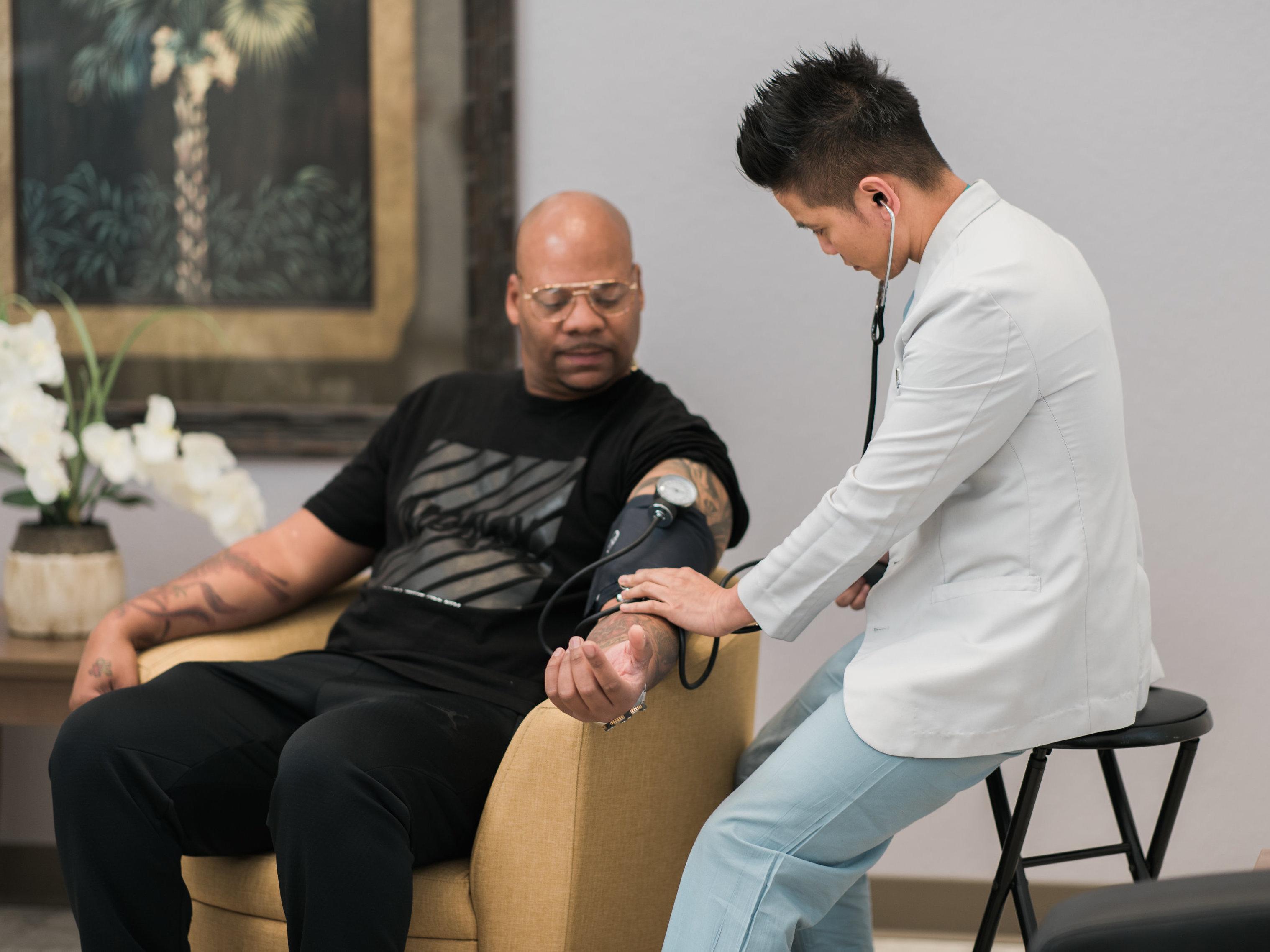 Vitals checkup during treatment