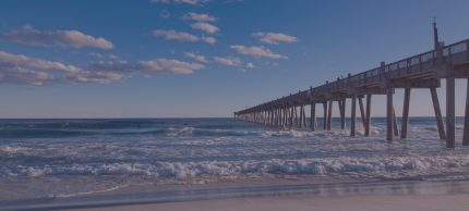 Pensacola Beach with boardwalk