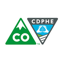 Colorado Department of Public Health and Environment logo