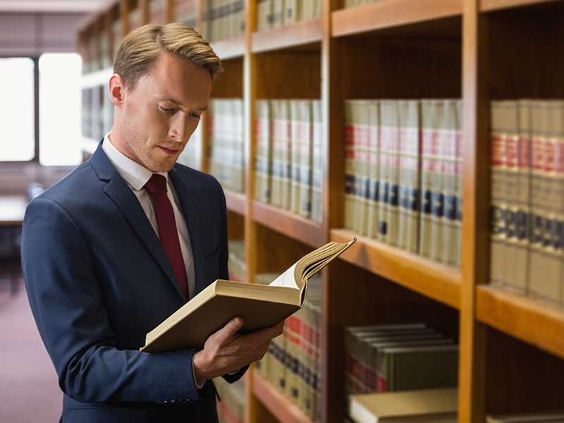 Lawyer in the law library