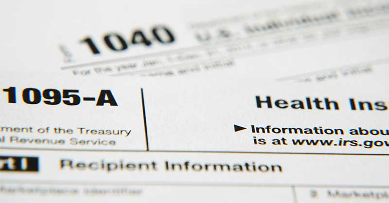 IRS form 1095-A (Affordable Health Care Act)