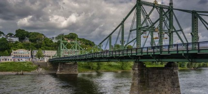 Phillipsburg, New Jersey bridge and river