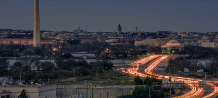 Washington, D.C. downtown at night