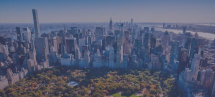New York City aerial view of city and Central Park