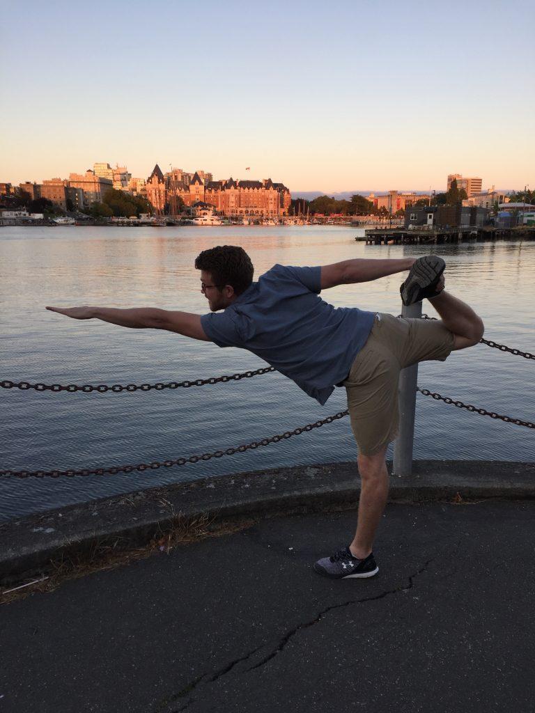 Mark Goodson in yoga pose