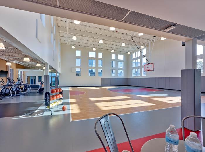 basketball court at cooper detox center